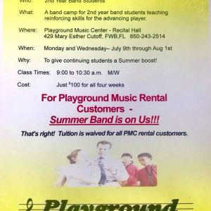 Playground Music Center Summer Band Camp