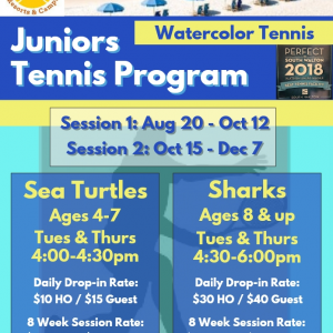Watercolor Tennis Jr Program