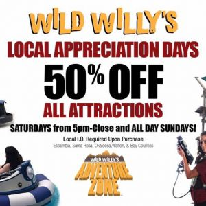 Wild Willy's Local Appreciation Days