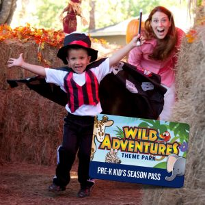 Wild Adventures Preschool Pass