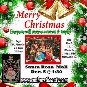 Merry Christmas Beauty Pageant Santa Rosa Mall